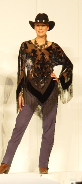 Bias Fringed Burnout Top