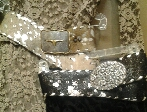 Crystal Buckle on Cowhide