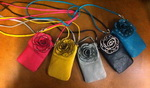 Cell Phone Crystal Rose Bag