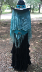 Custom Cowgirl Hat - Turquoise Hair on Hide with Concho