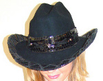 "Cowgirl Hats - 2"" outer rim lacing 0701"