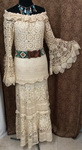 Hand Crochet Peasant Dress